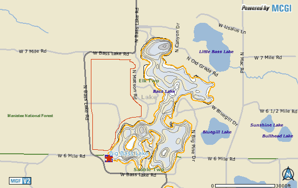 Big Bass Lake Map