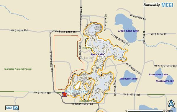 Big Bass Lake Map