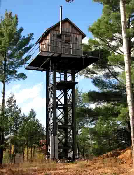Not so little deer blind in the woods big bass lake and for Permanent tree stand